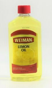 Weiman Lemon Oil Furniture Polish UV 15 Sunscreen 16 Oz NEW
