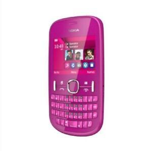 Original Nokia Asha 200 2MP Dual SIM 2G GSM 900 1800 QWERTY Keyboard Cellphone