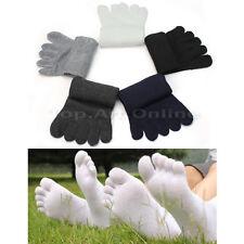 5 pairs couples chaussettes bas socquettes 5 orteils doigts en coton mixte doux