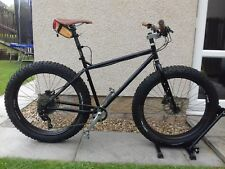 """Surly Pugsley Black Ops Fat Bike Medium 18"""" 1x10 with Dropper Nate Tyres"""