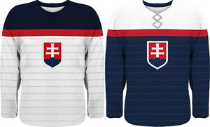 NEW 2021 Team Slovakia Hockey Jersey Limited Fan Edition TATAR HALAK CHARA PANIK
