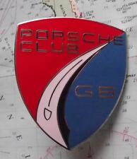 Unfitted Heavy Chrome Enamel Car Mascot Badge :-  Porche Club GB