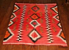 Early Navajo rug Chief's blanket Native American textile, weaving Antique