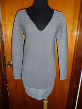 Victoria's Secret Moda International Reversible Metallic Sweater Dress S New