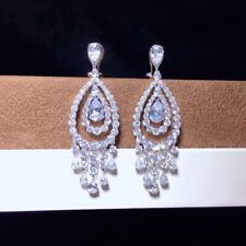 Luxury! Inspired Cubic Zirconia Earrings, Tassel Earrings, S925 Sterling Silver