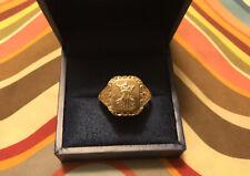 Mens 14ct Gold Signet Ring Brasov Coat Of Arms