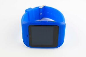 Sony SmartWatch 3 SWR-50 housing/adapter with blue silicone strap