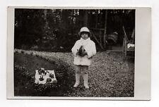 Photo ancienne - Carte photo - Enfant Fête Oeuf de Pâques Vers 1930 Vintage