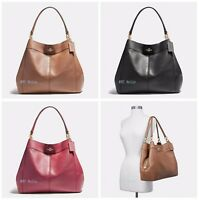 New Coach F23511 F31415 Large Lexy Shoulder Bag In Pebble Leather Suede