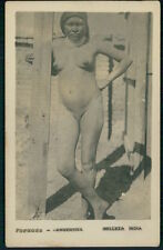 South America Argentina full nude Indian woman original c1920s photo postcard aa