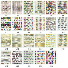 #245SA Multi Colour Alphabet Letters Numbers Craft Card Scrapbooking Stickers