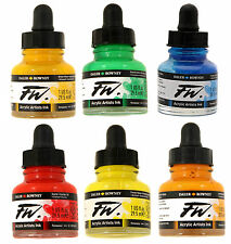 Daler Rowney FW Artists Acrylic Ink 29.5 ml - 45 Colours Available