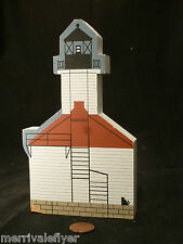 Wood Lighthouse Model St Joseph Lake Michigan Folk Art primitive stamp Cats Meow