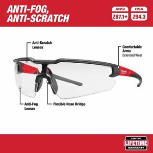 Milwaukee Tool Safety Glasses with Clear Lenses