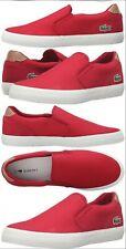 Lacoste Men's Jouer Slip-on Fashion Canvas Sneaker Red NEW Size 10.5 Vans chuck