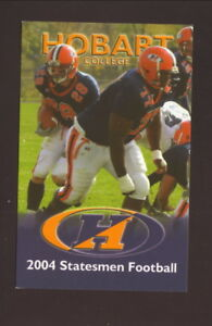 Hobart Statesmen--2004 Football Pocket Schedule