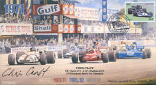 1971 brm P160 mars tyrrell 002 & surtees TS9 monza F1 couverture signée chris craft