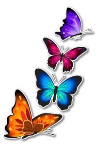 Colorful Butterflies Set of 4 Car Laptop Phone Vinyl Sticker  - SELECT SIZE