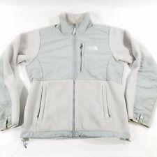 Womens Sz Small The North Face Denali Warm Fleece Gray Ice Blue Full Zip Jacket