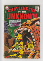 Challengers of the Unknown #59 G- DC comic 1967