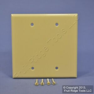 New Leviton Ivory 2-Gang Blank MIDWAY Wallplate Thermoset Plastic Cover 80525-I