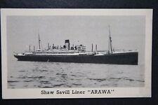 RMS  ARAWA      Shaw Savill Line      Vintage Photo Card