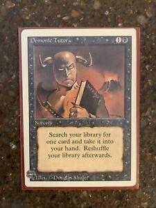 Magic MTG Unlimited Demonic Tutor MP