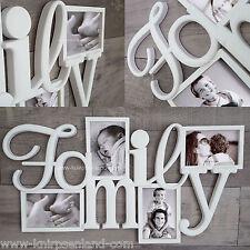 Family Bilderrahmen 3D Fotorahmen Galerierahmen weiß Collage Bildergalerie NEU