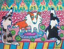 Sheltie Pop Star Shetland Sheepdog Dog Outsider Pop Pup Art Print 8 x 10 Ksams