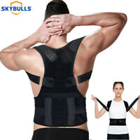 Support Correction Lumbar Back Shoulder Brace Belt Posture Corrector Adjustable