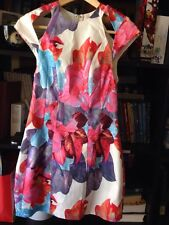 Mila & Gala Floral Cap Sleeve Knee Length Dress Size 6