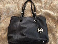 Michael Kors Signature Logo Handbag- Black- Large