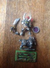Warhammer. Orc, Orruk Warboss Warlord Grotfang On Boar. Metal.