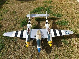 P38 warbird 1400mm wingspan Futaba 14ch radio