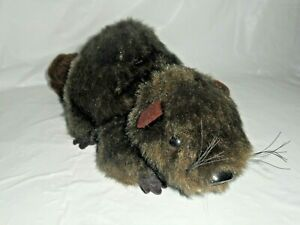 Dakin Pillow Pets Beaver (CHIP) Stuffed Animal 1976 Dark Brown Red Tones  10""