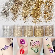 5 Pot/Set Gold Nail Glitter Dust Powder Sequins 3D Manicure Nail Art Decoration
