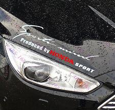 ☆New☆ Headlight Eyebrow Car Stickers Decals Graphics Vinyl For Honda (White)