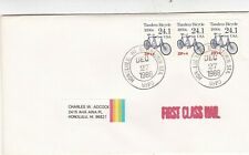 United States 1988 Tandem Bicycle FDC Honolulu CDS VGC