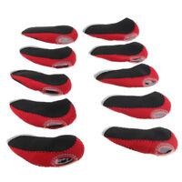 10x Neoprene Golf Club Head Cover Set Iron Wedge Protective Case Black Red