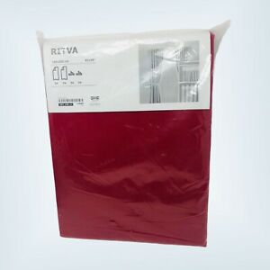 """Ikea RITVA Curtains with tie-backs 57""""x98"""" 2 Drapes Red"""