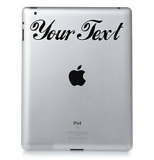 2X PERSONALIZADA VINILO ADHESIVO para Portátil,PC,Ipad,Macbook ELIGE COLOR &