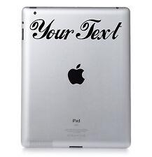 2X CUSTOM VINYL DECAL. for Laptop, PC, Ipad, Macbook. CHOOSE COLOUR & FONT
