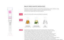 MILKY DRESS White Virgin Face Cream 6 pack x 20ml / USA seller . 100% original
