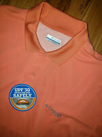 Mens Columbia PFG Perfect Cast Polo Shirt Short Sleeve Size L Orange New NWT