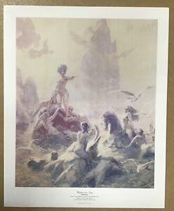 Art print/reproduction - Norman Lindsay 'unknown seas' sirens