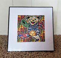 Framed Blotter Art Print Grateful Dead Dancing Bear Psychedelic LSD