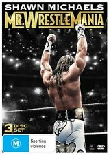 WWE - Shawn Michaels - Mr. Wrestlemania (DVD, 2014, 3-Disc Set) New  Region 4