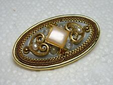 "Vintage MICHAL GOLAN Heart Motif Pin Brooch / Pendant in One 1 3/4"" x 1"""