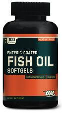 Enteric Coated Fish Oil, Optimum Nutrition, 100 Softgels, ON, Heart Health