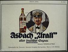 Asbach uralt,alter deutscher Gognac,Weinbrand,Rüdesheim,Rhein,orig.Anzeige 1915